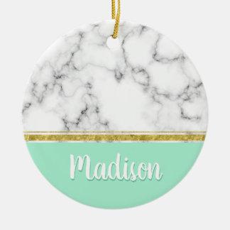 Eleganter tadelloser Marmor-und Goldindividueller Keramik Ornament