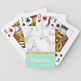 Eleganter tadelloser Marmor-und Goldindividueller Spielkarten