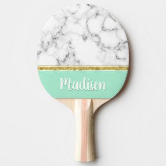 Eleganter tadelloser Marmor-und Goldindividueller Tischtennis Schläger