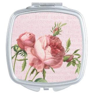 Eleganter u. girly rosa Spiegel der Vintagen Rose Schminkspiegel