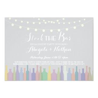 Eleganter Vorrat die Bar-Verlobungs-Einladung Karte