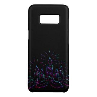 Eleganter WeihnachtsKranz und Kerzen Neonschwarze Case-Mate Samsung Galaxy S8 Hülle