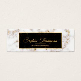 Eleganter weißes Goldmarmor-Name - Visitenkarte