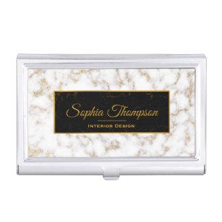 Eleganter weißes Goldmarmor - Visitenkarte-Halter Visitenkarten Dose