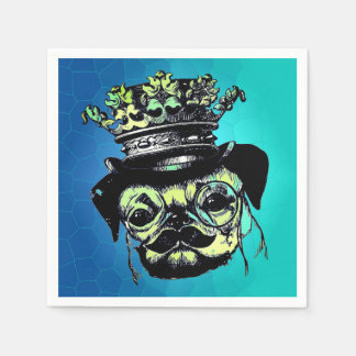 Eleganter Welpe Pog Hund - Papierserviette