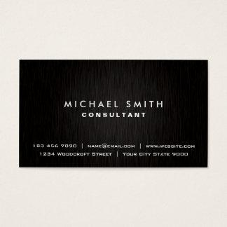 Elegantes berufliches einfaches schwarzes modernes visitenkarten