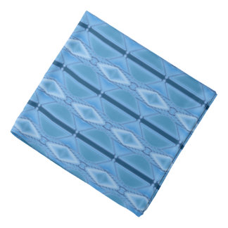 Elegantes blaues geometrisches mit Streifen Halstücher