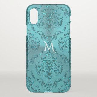 Elegantes blaues Grün-metallisches iPhone X Hülle