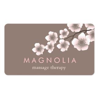 Elegantes Blüten-Rosa-schicke Zen-Visitenkarte Visitenkarten