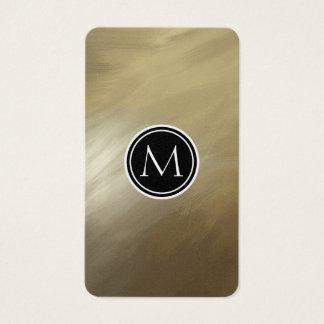 Elegantes Bürsten-Anschlag-Gold Visitenkarten