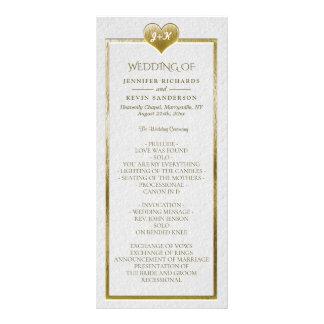 Elegantes einfaches Hochzeits-Programm mit Werbekarte