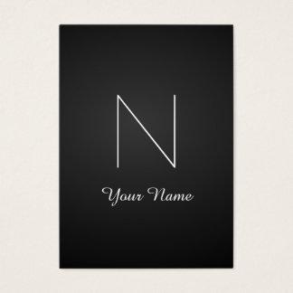 Elegantes extravagantes atemberaubendes Monogramm Visitenkarte