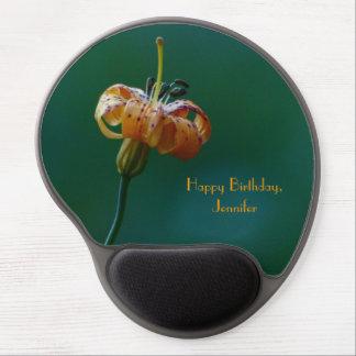 Elegantes gelbes Lilien-alles- Gute zum Gel Mousepad
