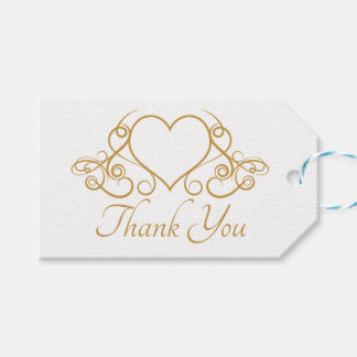 Elegantes Gold danken Ihnen Geschenkanhänger