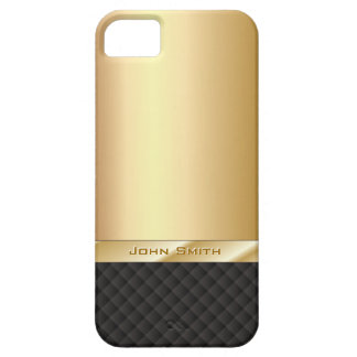 Elegantes Gold mit individueller Name iPhone 5 Barely There iPhone 5 Hülle