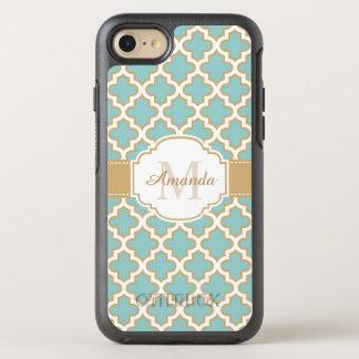 Elegantes Goldaquamarines blaues marokkanisches OtterBox Symmetry iPhone 7 Hülle