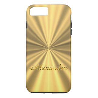Elegantes Goldenes des personalisierten Chic iPhone 7 Plus Hülle