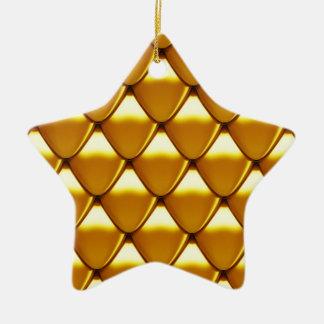 Elegantes Goldskala-Muster Keramik Stern-Ornament