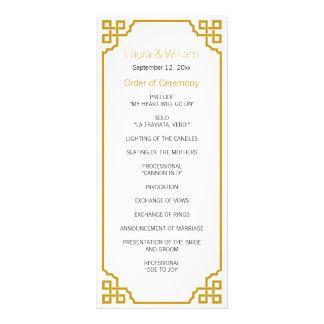 Elegantes GoldVintages Hochzeits-Programm Kartendruck