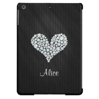 Elegantes grafisches Diamant-Herz-gestreifter iPad Air Hülle
