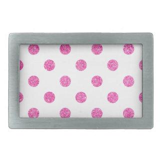 Elegantes heißes Rosa-Glitter-Polka-Punkt-Muster Rechteckige Gürtelschnallen
