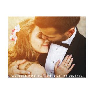 Elegantes Hochzeits-Paar-Foto-Andenken Leinwand Drucke