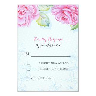 elegantes Hochzeits-uAwg der rosa Blumen 8,9 X 12,7 Cm Einladungskarte