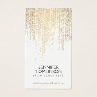 Elegantes Imitat-Goldconfetti-Punkt-Muster Visitenkarten