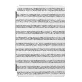 Elegantes Imitat-silbernes Glitter-Streifen-Muster iPad Mini Hülle