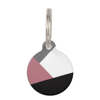 elegantes klares staubiges rosa, schwarzes, graues haustiermarke