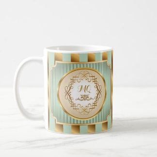 Elegantes Kupfer u. tiefer weises Kaffeetasse