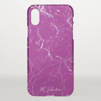Elegantes lila Marmorierungpersonalisiertes iPhone X Hülle
