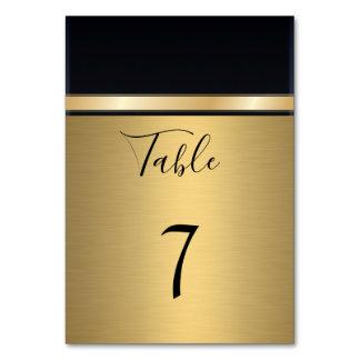 Elegantes modernes Gold/schwarze Hochzeit Karte