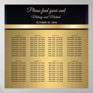 Elegantes modernes Gold/schwarzes Hochzeit Poster