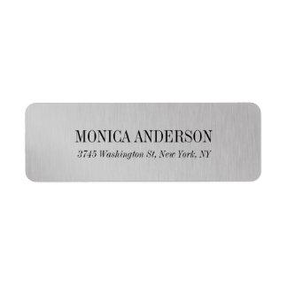 Elegantes modernes silbernes Grau stilvoll Rückversand-Adressaufkleber