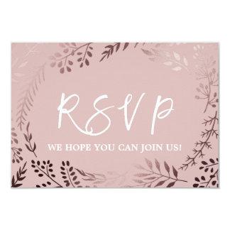 Elegantes Rosen-Gold und rosa Hochzeits-Website Karte