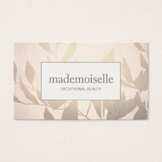 Elegantes Rosen-Gold verlässt Esthetian Schönheit Visitenkarten