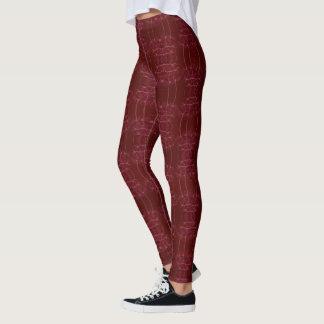Elegantes Rot Leggings