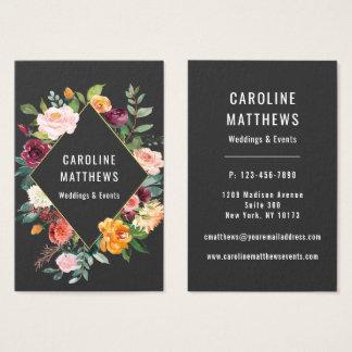 Elegantes rustikales Aquarell mit Blumen Visitenkarte