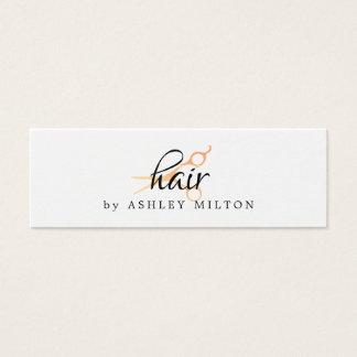 Elegantes sauberes weißes Imitat-Gold Scissors Mini Visitenkarte