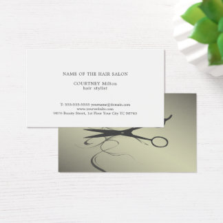 Elegantes Schwarzes Scissors Visitenkarte