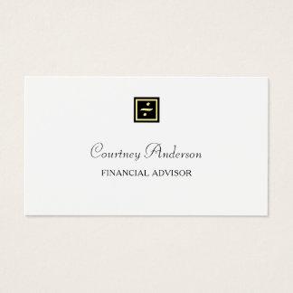 Elegantes schwarzes visitenkarte
