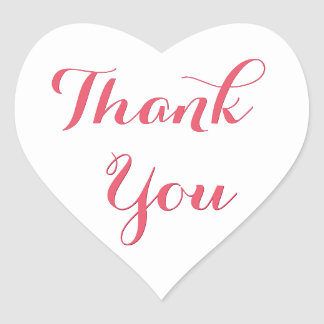 Elegantes Skript-Gastgeschenk-Herz danken Ihnen Herz-Aufkleber