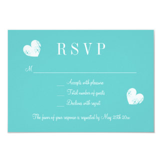 Elegantes Türkisblau UAWG, das Wartekarten wedding 8,9 X 12,7 Cm Einladungskarte