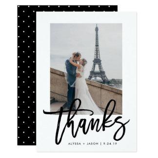 Elegantes   Typografie-und Hochzeits-Foto des 12,7 X 17,8 Cm Einladungskarte