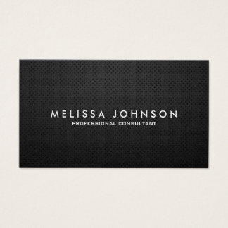 Elegantes u. modernes Schwarzes und Gold beruflich Visitenkarten