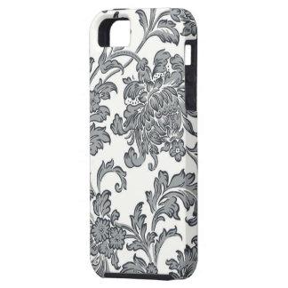 Elegantes Vintage Blumenmuster - schwarz/weiß Hülle Fürs iPhone 5