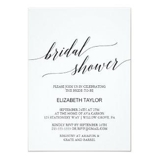 Elegantes weißes und schwarzes 12,7 x 17,8 cm einladungskarte