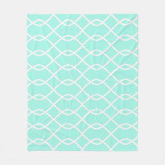 ELEGANTES WELLEN-MUSTER - aquamarine Fleece-Decke Fleecedecke