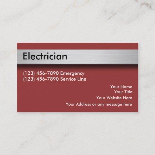 Elektriker Visitenkarten Visitenkarte Zazzle At